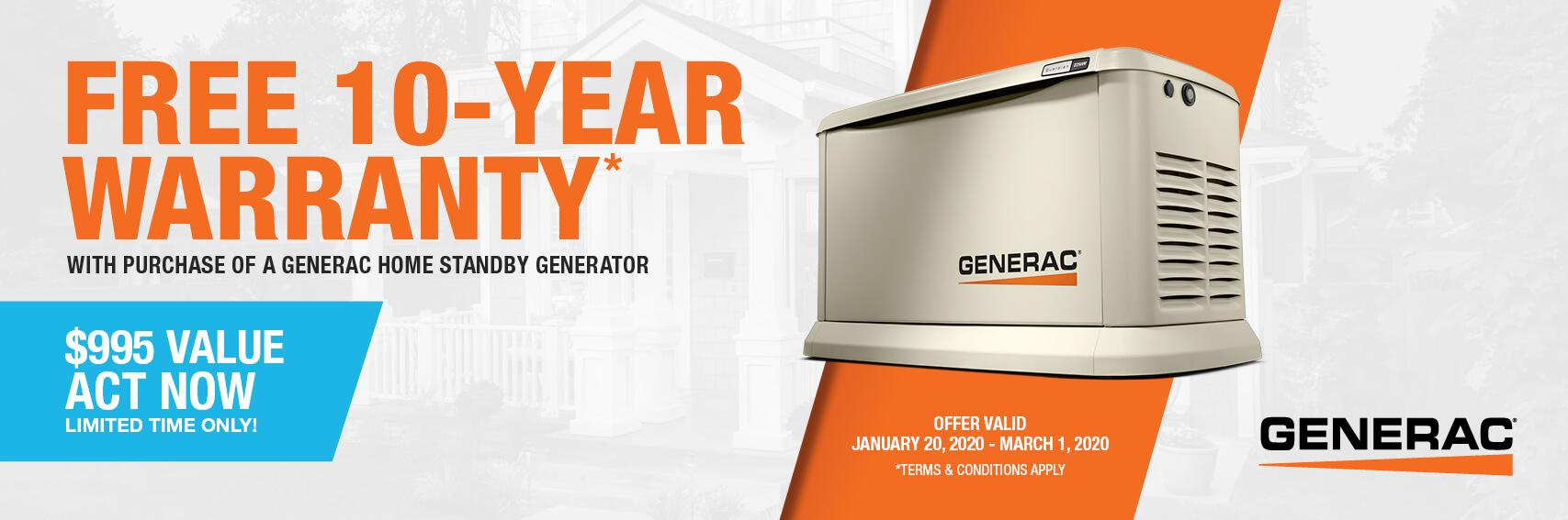 Homestandby Generator Deal | Warranty Offer | Generac Dealer | Dayton, ME